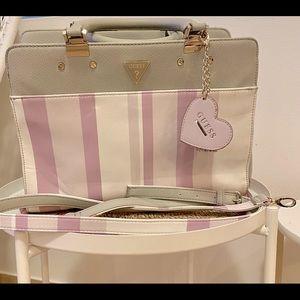 Guess Purple & White Stripe Bag